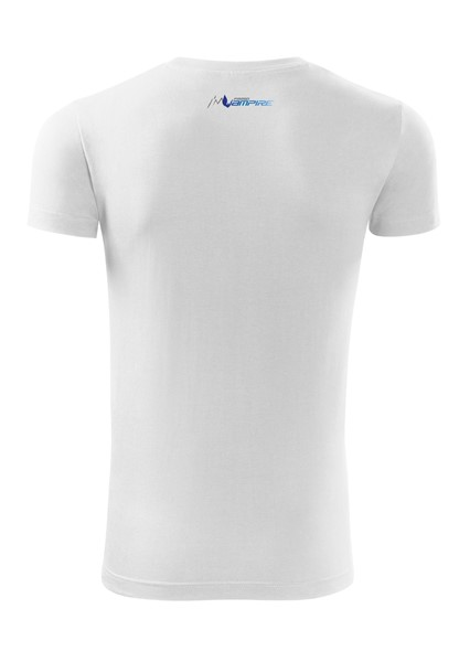 BE VAMPIRE - T-shirt for Men White + logo blue / S