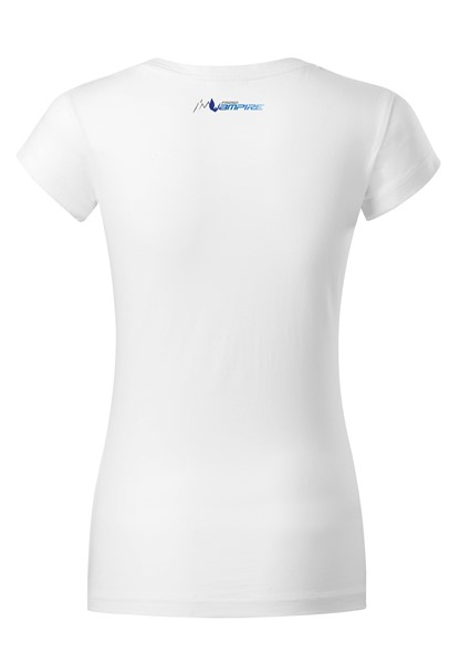 BE VAMPIRE - T-shirt for Women White + logo blue / XS